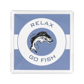 RELAXANDGO FISHING ACRYLIC TRAY