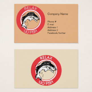 RELAX AND GO FISHING BUSINESS CARD