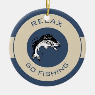 RELAXANDGO FISHING CERAMIC ORNAMENT