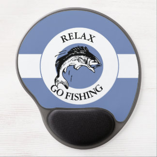 RELAX AND GO FISHING GEL MOUSE PAD