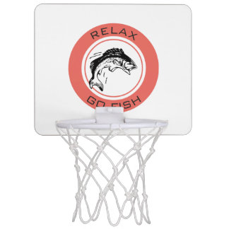 RELAX AND GO FISHING MINI BASKETBALL HOOP