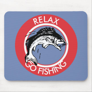 RELAX AND GO FISHING MOUSE PAD