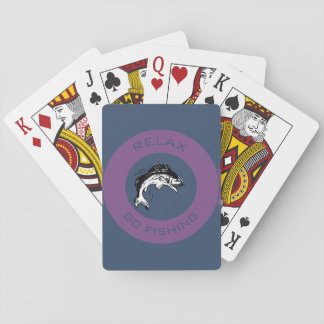 RELAX AND GO FISHING PLAYING CARDS