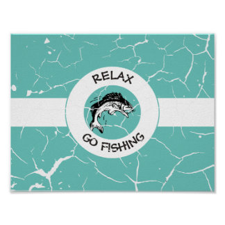 RELAXANDGO FISHING POSTER