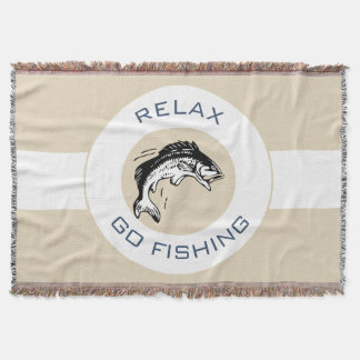 RELAX AND GO FISHING THROW BLANKET