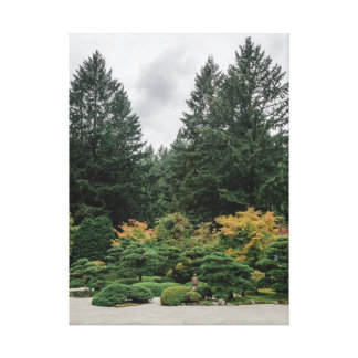 Relax at a Japanese Garden Canvas Print