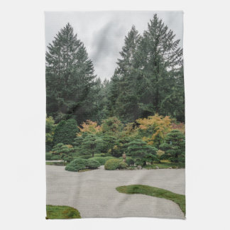 Relax at a Japanese Garden Kitchen Towel