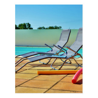 Relax at the pool post card