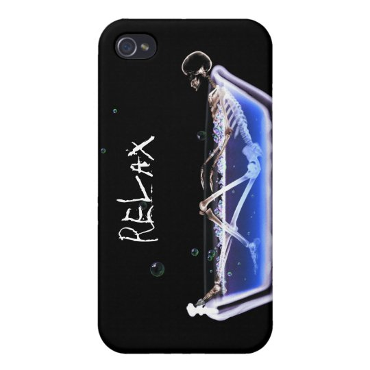 RELAX Bath Tub X-Ray Skeleton - Original Cover For iPhone 4