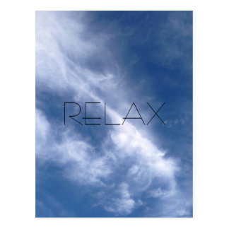 Relax Blue Sky and Cloud Postcard