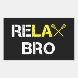 ReLax Bro Funny Lacrosse Sticker