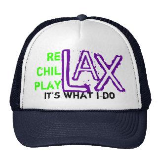 relax chillax playlax trucker hat