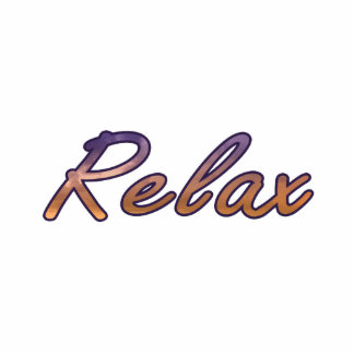 Relax cloud purple orange outlined cut outs