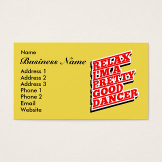 RELAX DANCER AMAZON BUSINESS CARD