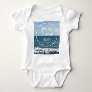 Relax Dream Believe Baby Bodysuit