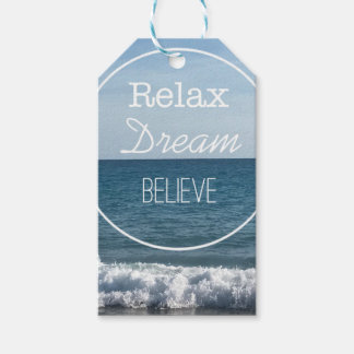 Relax Dream Believe Gift Tags