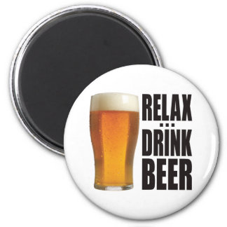 Relax Drink Beer Magnet