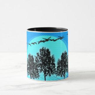 Relax & Enjoy_Geese(c) Blue-Serene_ Mug