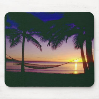 Relax, enjoy the sunset in this hammock.  Mousepad