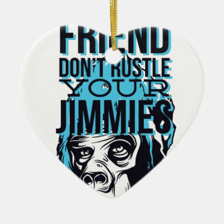 relax friends don't rustle, monkey ceramic ornament