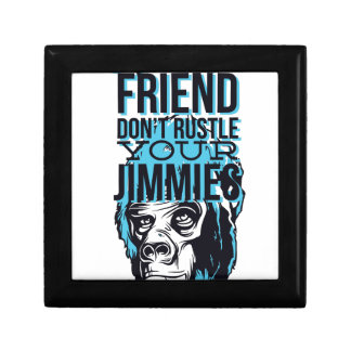 relax friends don't rustle, monkey gift boxes
