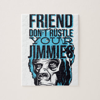 relax friends don't rustle, monkey jigsaw puzzle