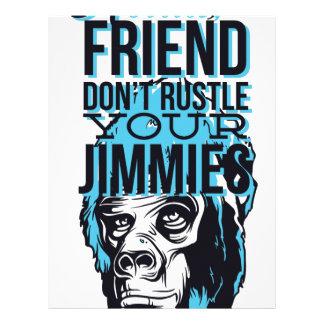 relax friends don't rustle, monkey letterhead