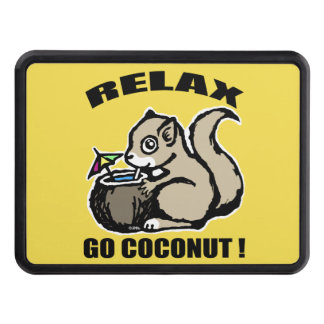 Relax! Go Coconut Trailer Hitch Cover