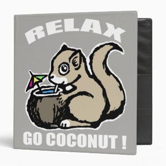 Relax! Go Coconut Vinyl Binder
