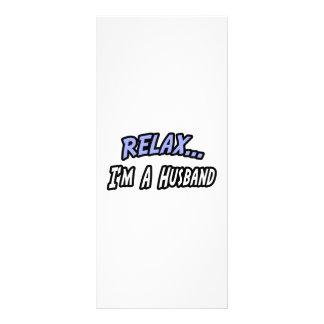 Relax, I'm a Husband Rack Card
