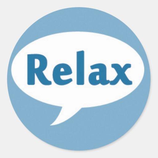 Relax in a Speech Bubble Sticker