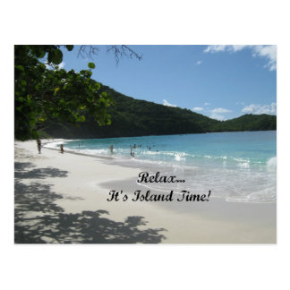 Relax...it's Island Time! Postcard