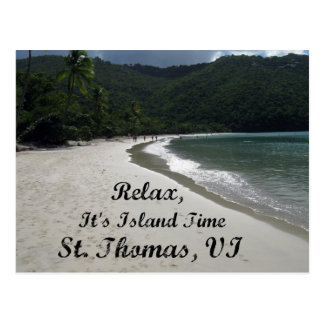 Relax, it's island time, St. Thomas VI Postcard