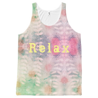 Relax leaf print All-Over-Print tank top