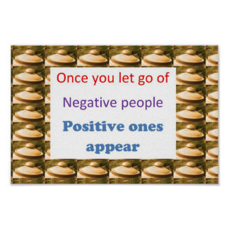 RELAX  :  Let go off NEGATIVE People and Thoughts Poster