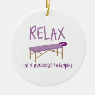 Relax Massage Table Ceramic Ornament