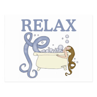 Relax Mermaid Muse Postcard