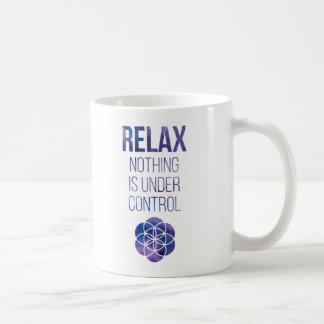 Relax Mindfulness Buddha Quote Coffee Mug