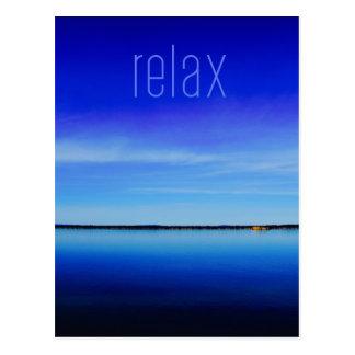 Relax Ocean Horizon Photo Postcard
