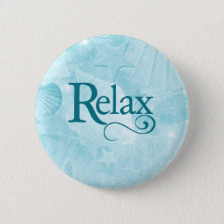 Relax on soothing seashells 2 inch round button