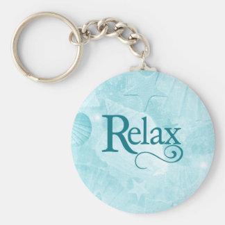 Relax on soothing seashells keychain