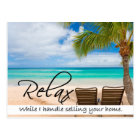 RELAX Real Estate postcard