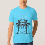 Relax Rest Repeat Hammock in Palm Trees T Shirt