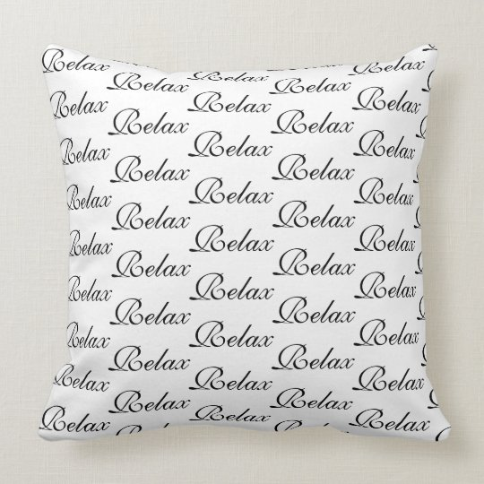 Relax Script Cushion Pillow