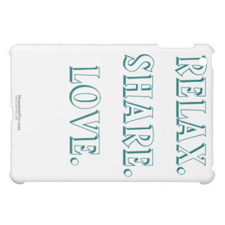 Relax Share Love iPad Case in Blue Green