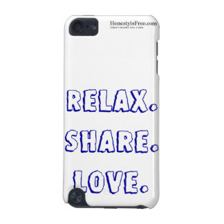 Relax Share Love iTouch Case in Blue iPod Touch 5G Covers