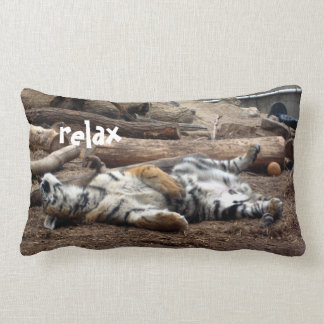 """""""Relax"""" Sleeping Tiger Lumbar Pillow"""