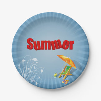 Relax Summer Fun Holiday Lounger - Paper Plate
