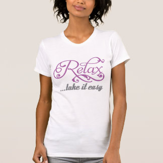 Relax take it easy floral swirls girls t-shirt
