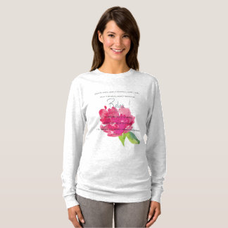 RELAX TO RECEIVE, TO VIBRATE BRIGHT PINK FLORAL T-Shirt